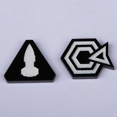 Twilight Imperium Command & Control Tokens - Black