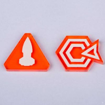 Twilight Imperium Command & Control Tokens - Orange