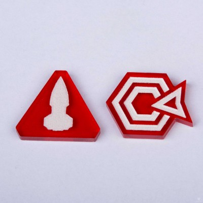 Twilight Imperium Command & Control Tokens - Red