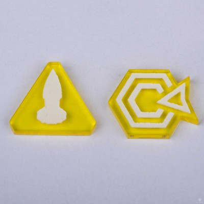 Twilight Imperium Command & Control Tokens - Yellow