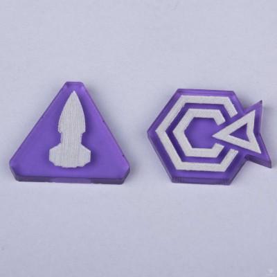 Twilight Imperium Command & Control Tokens - Purple